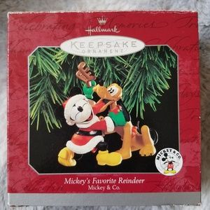 Mickey's Favorite Reindeer Ornament